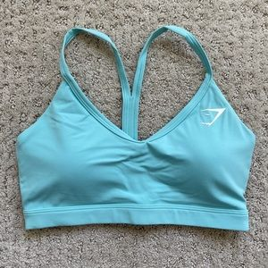 Gymshark V Neck Training Sports Bra - Turquoise